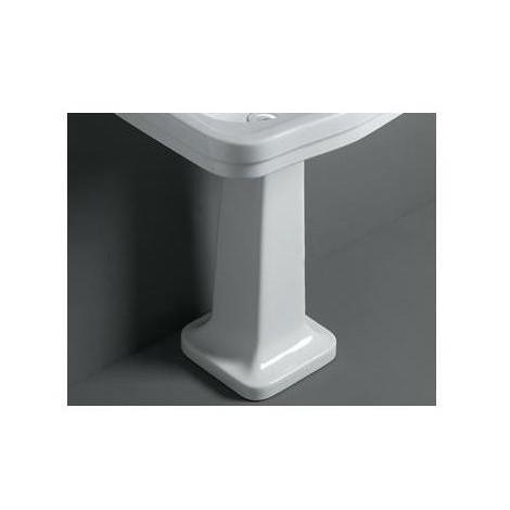 Colonna per lavabo in stile retrò bianco lucido da abbinare a lavabo 68 cm - Londra, Simas