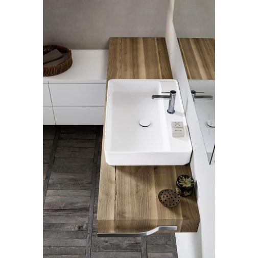 Composizione bagno angolare moderna con lavabo appoggiato e specchio - Street 40, Arbi Arredobagno