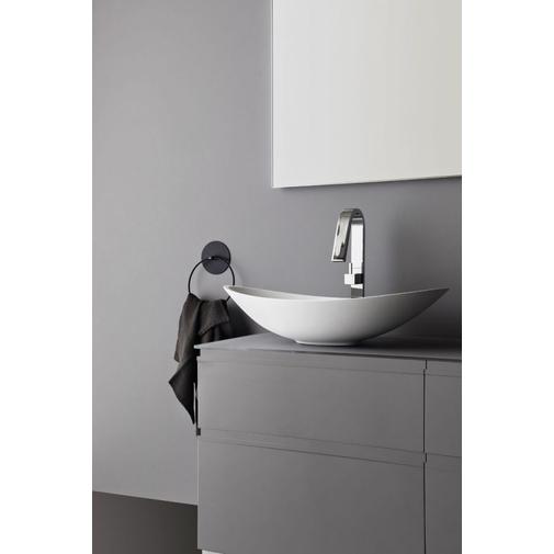 Composizione bagno cenere opaco con mobile, piano in cristallo, lavabo tekno e pensili - Game, Arbi Arredobagno