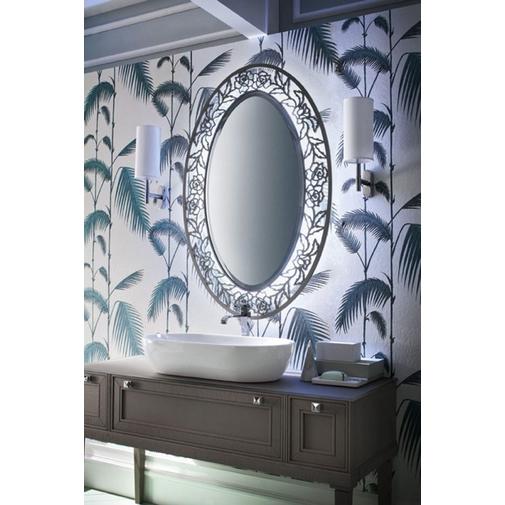 Composizione bagno classica con mobile con gambe, lavabo appoggiato e specchiera in stile - Augusto 8, Arbi Arredobagno