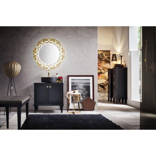 Composizione bagno classica con mobiletto, lavabo appoggiato e specchio artistico - Augusto 5, Arbi Arredobagno