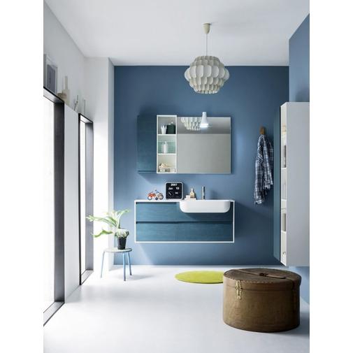 Composizione bagno completa di mobile, lavabo, specchio e colonne - Street 32, Arbi Arredobagno