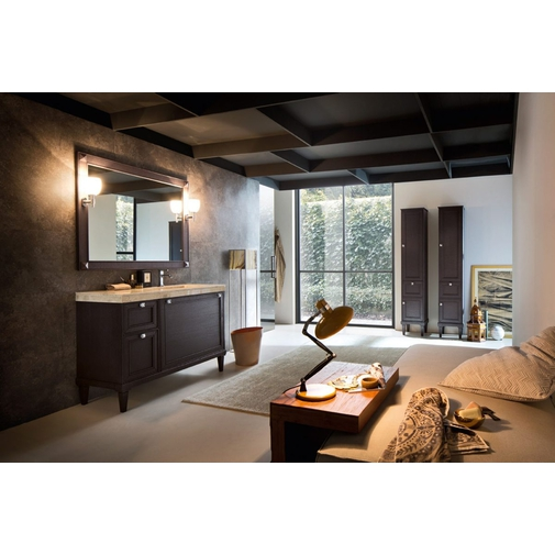 Composizione bagno con bobile con top con lavabo integrato e specchiera - Augusto 4, Arbi Arredobagno