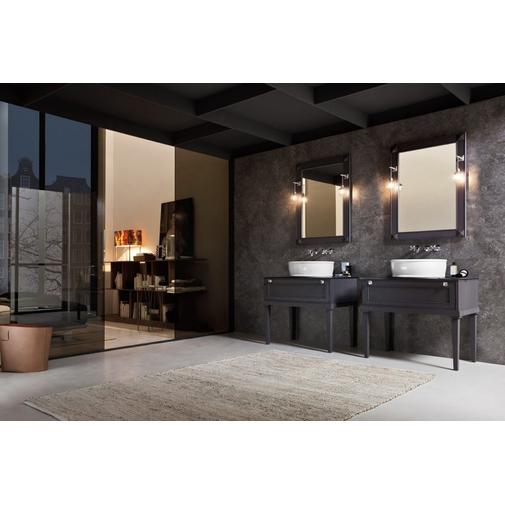 Composizione bagno con due mobili in stile classico e specchio - Augusto 2, Arbi Arredobagno