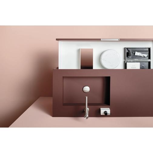 Composizione bagno con mobile con un cassetto, lavabo e specchio - Materia, Arbi Arredobagno