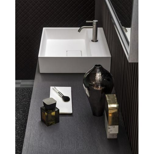 Composizione bagno con mobile e lavabo appoggiato con specchiera 165 cm - Arbi Arredobagno