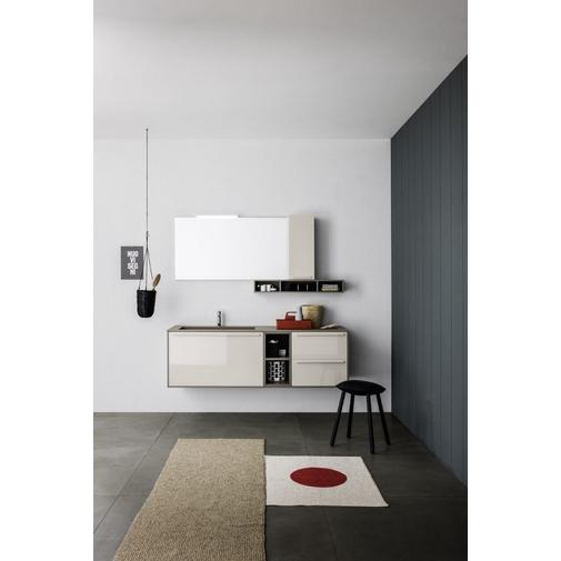 Composizione bagno con mobile, lavabo, pensili e specchio 150x50 cm - Sky 178, Arbi Arredobagno