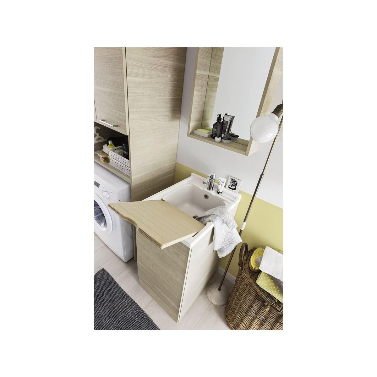 Mobile Bagno Con Colonna Lavatrice arbi arredobagno composizione lavanderia compatta con mobile