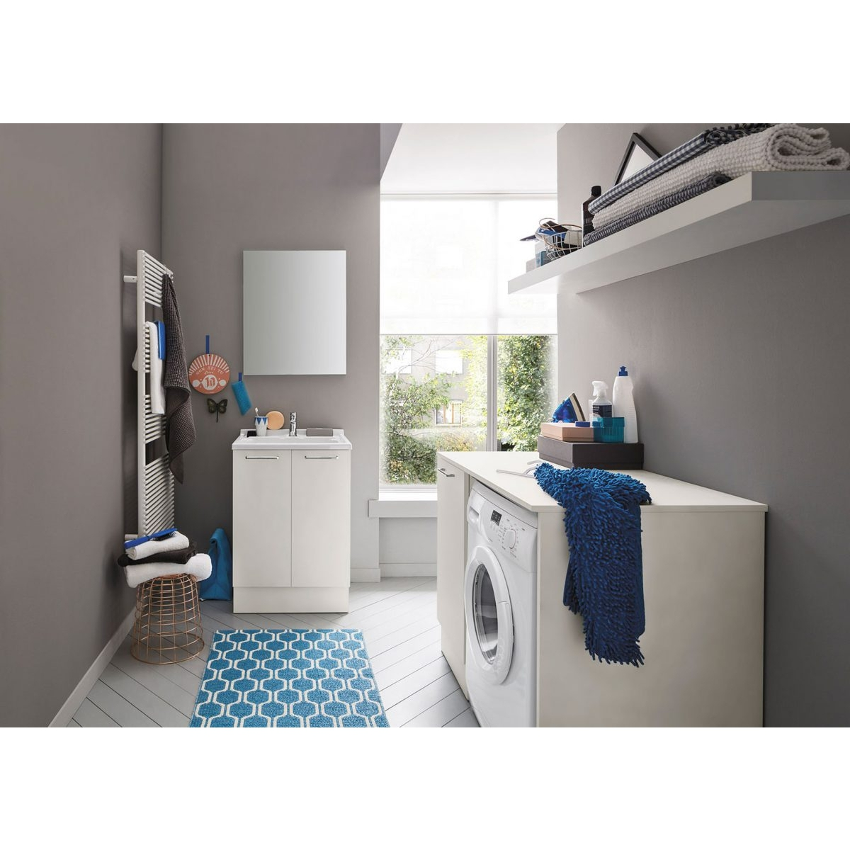 Mobile Bagno Lavabo E Lavatrice arbi arredobagno composizione lavanderia con mobile lavabo e