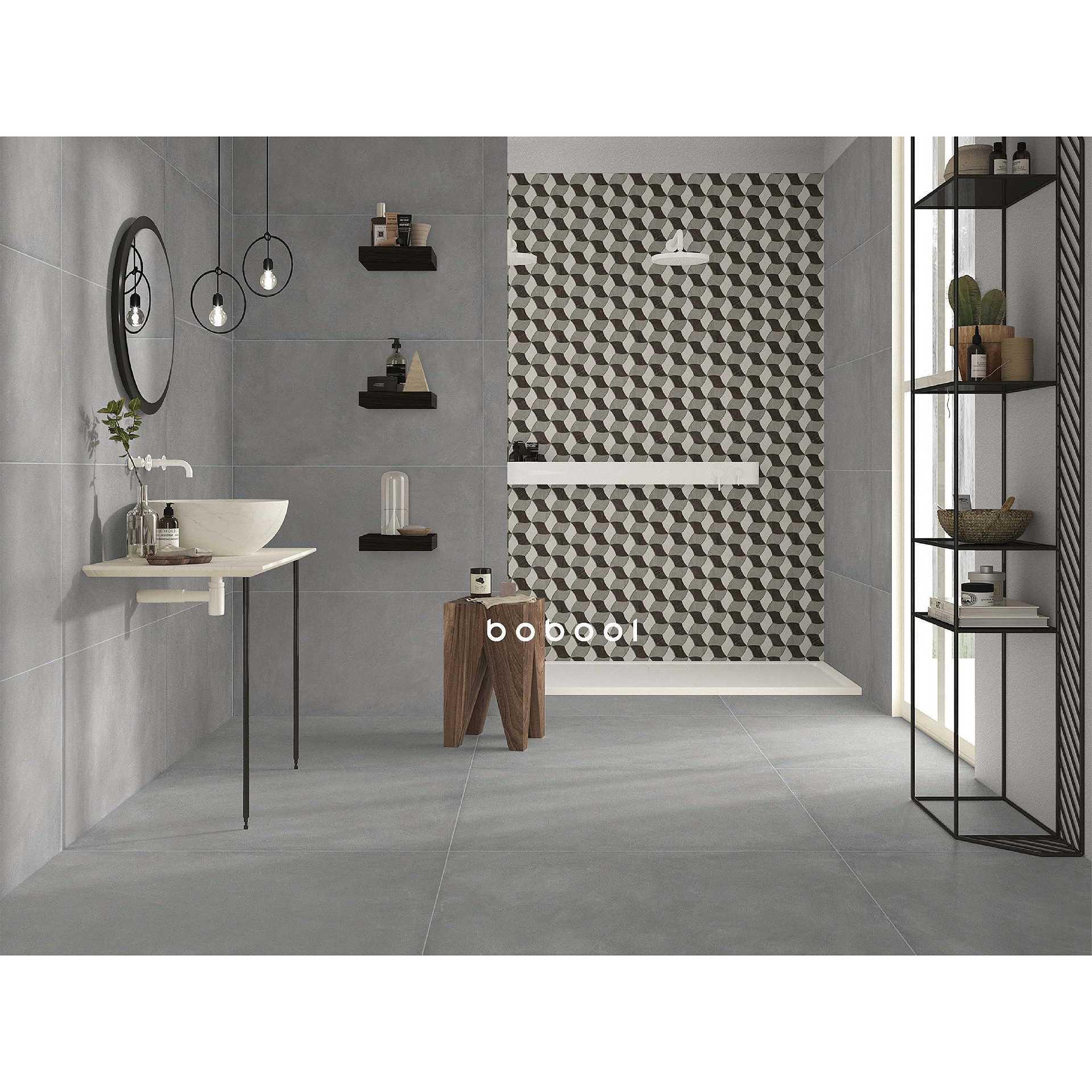 Gres Porcellanato Smaltato Caratteristiche gres porcellanato effetto resina grigia 90x90 cm - comfort_r