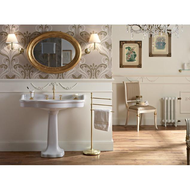 Palladio di Sbordoni - Lavabo consolle,in ceramica bianca ...