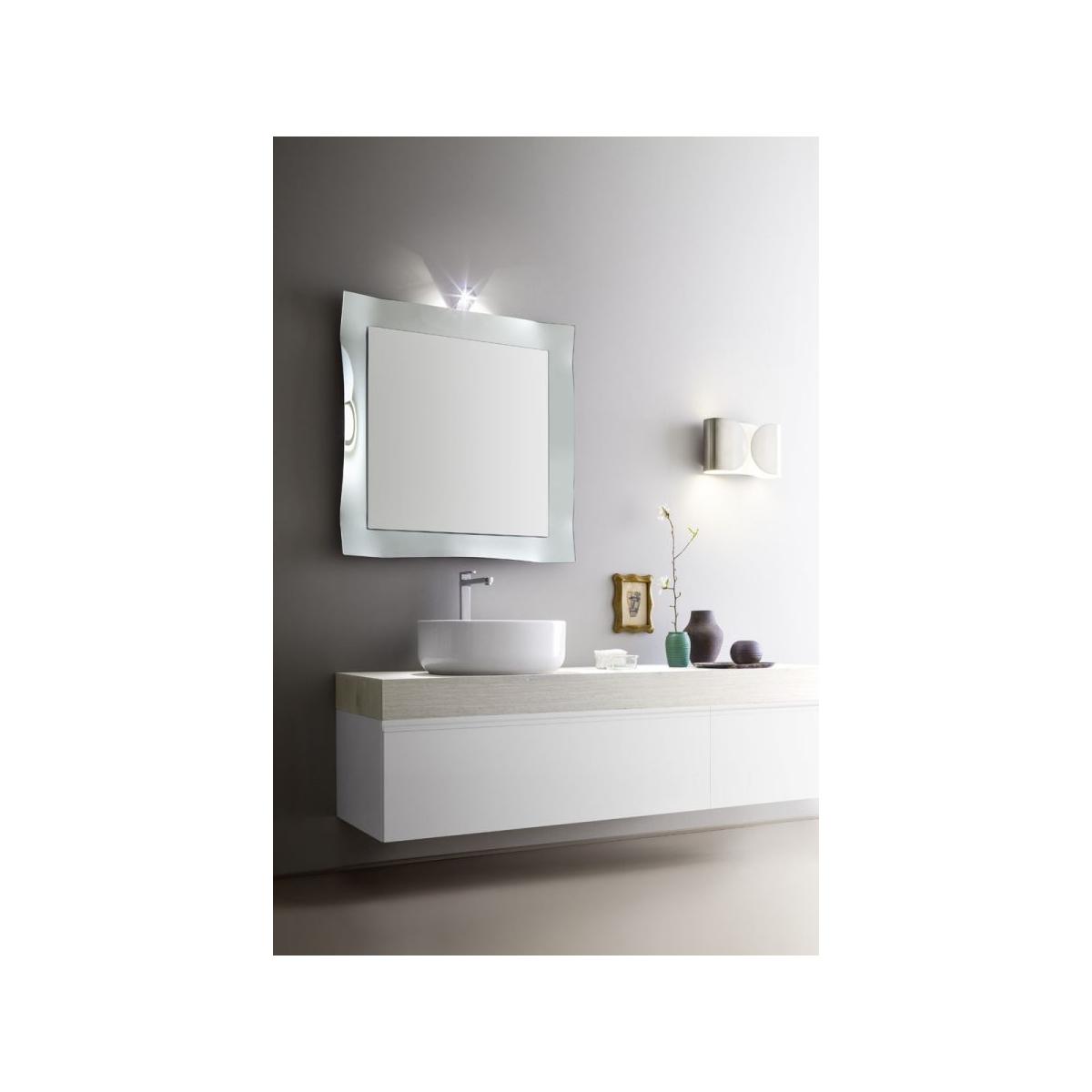 Armadietto Bagno Moderno mobile bagno minimale, moderno, bianco lucido e rovere