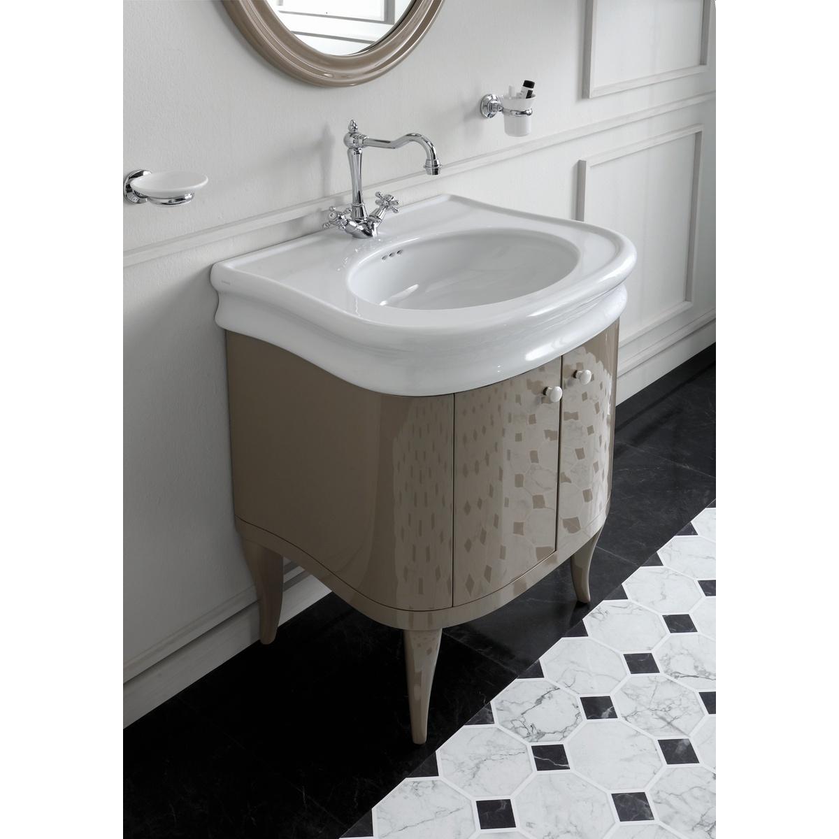 Composizione Del Colore Tortora mobile stile retrò per lavabo la10 a 2 ante colore tortora