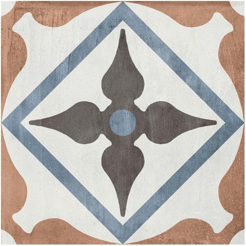 Piastrella effetto cementina in gres porcellanato, decoro colorato misto 20x20 cm - Patchwork Colors Mix, Ceramica Sant'Agostino
