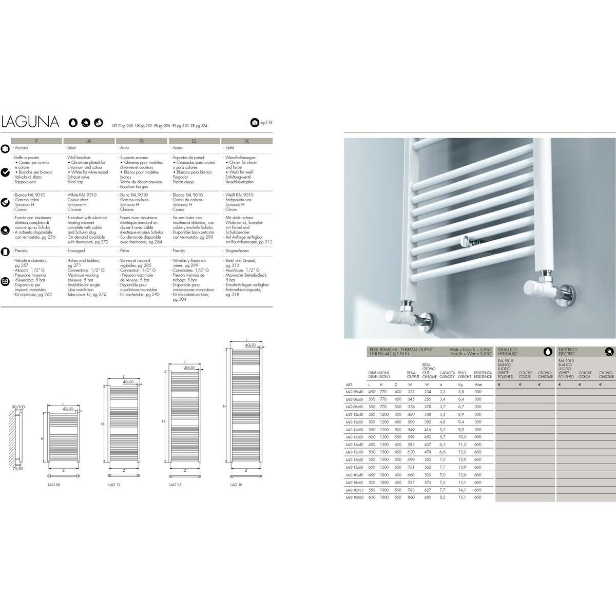 Mensole In Marmo Per Termosifoni termosifone da bagno elettrico, pratico e funzionale