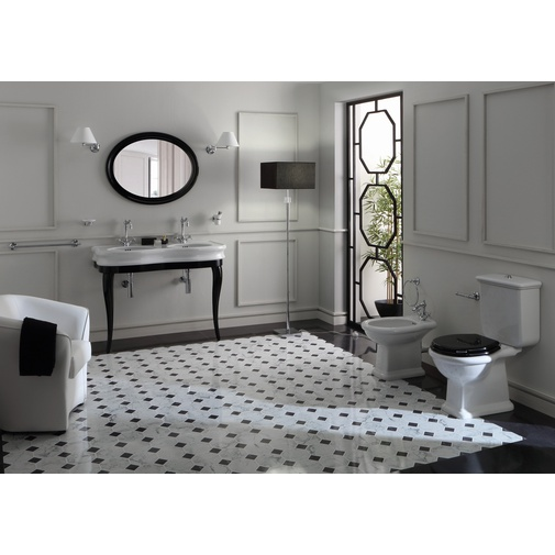 Specchio belle epoque ovale con cornice nera lucida 90x69,5 cm - Lante Simas