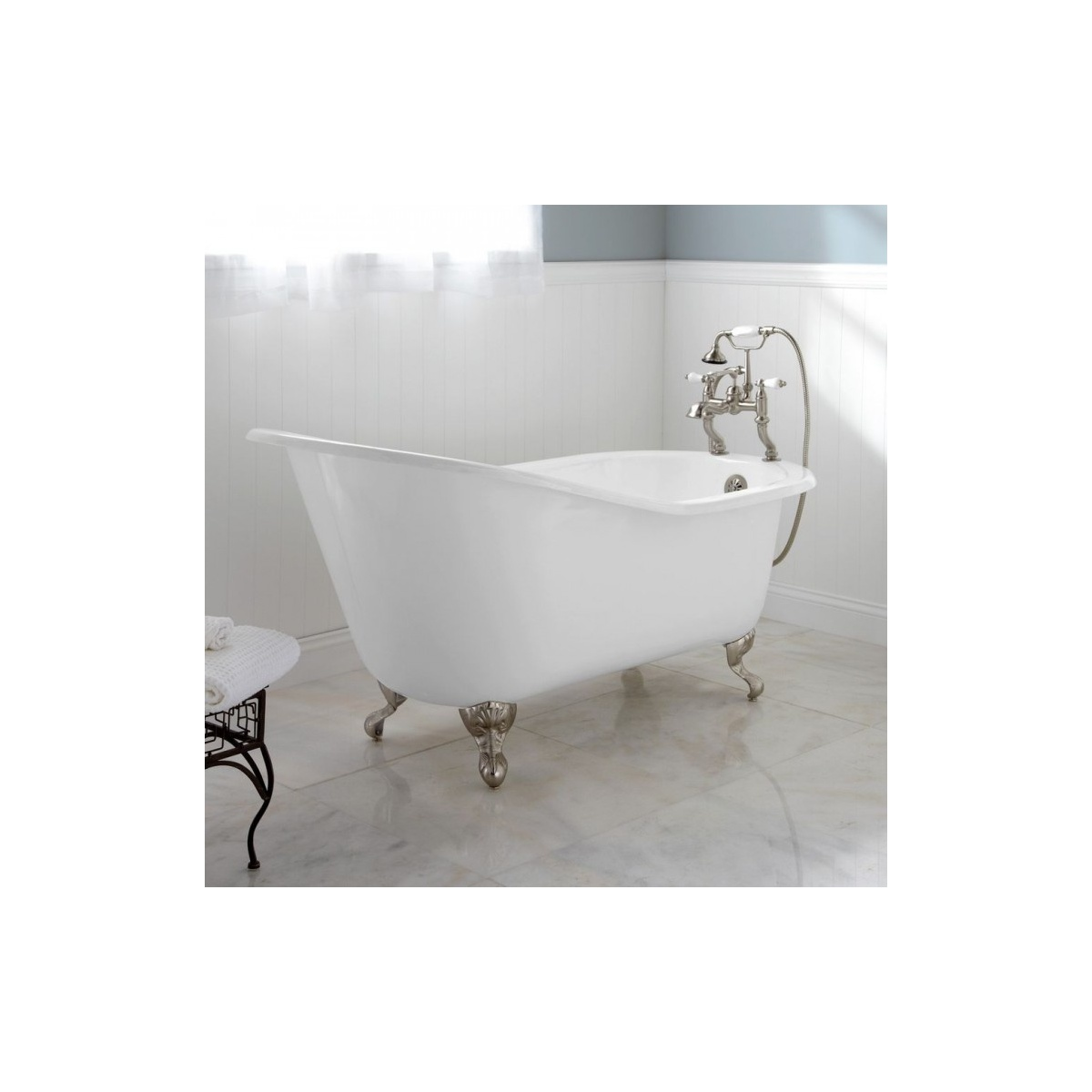 Vasca Da Bagno Classica In Ghisa Colore Bianco Freestanding Simas